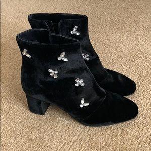 Bedazzled velvet boots!
